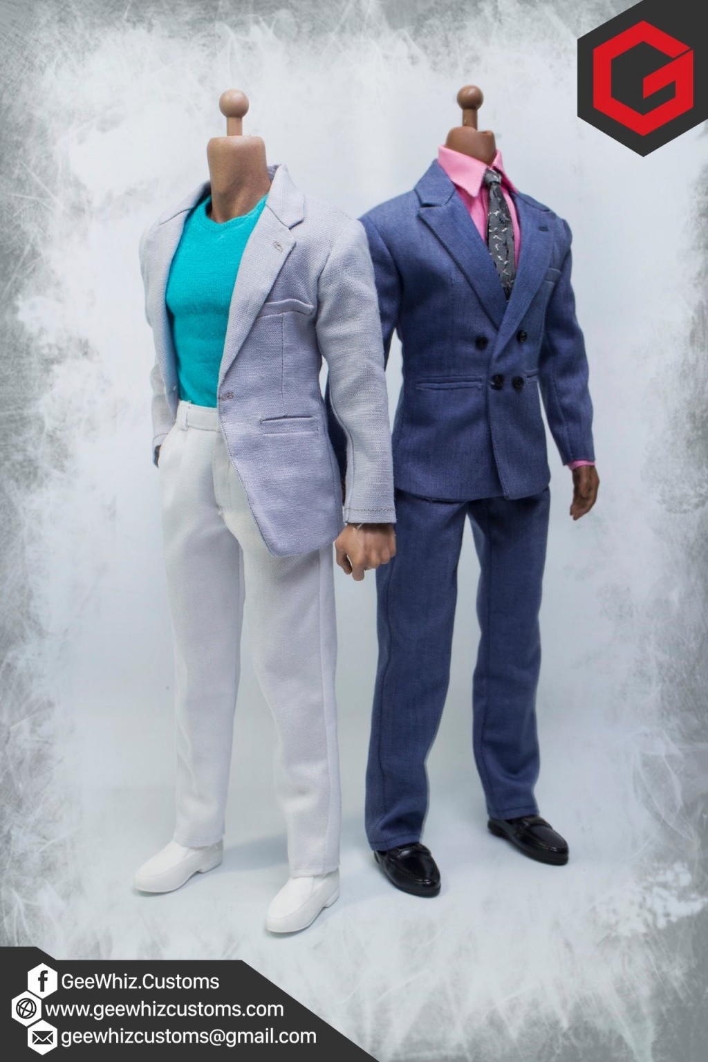 geewhiz customs miami vice crockket and tubbs 1 6 scale clothing commission