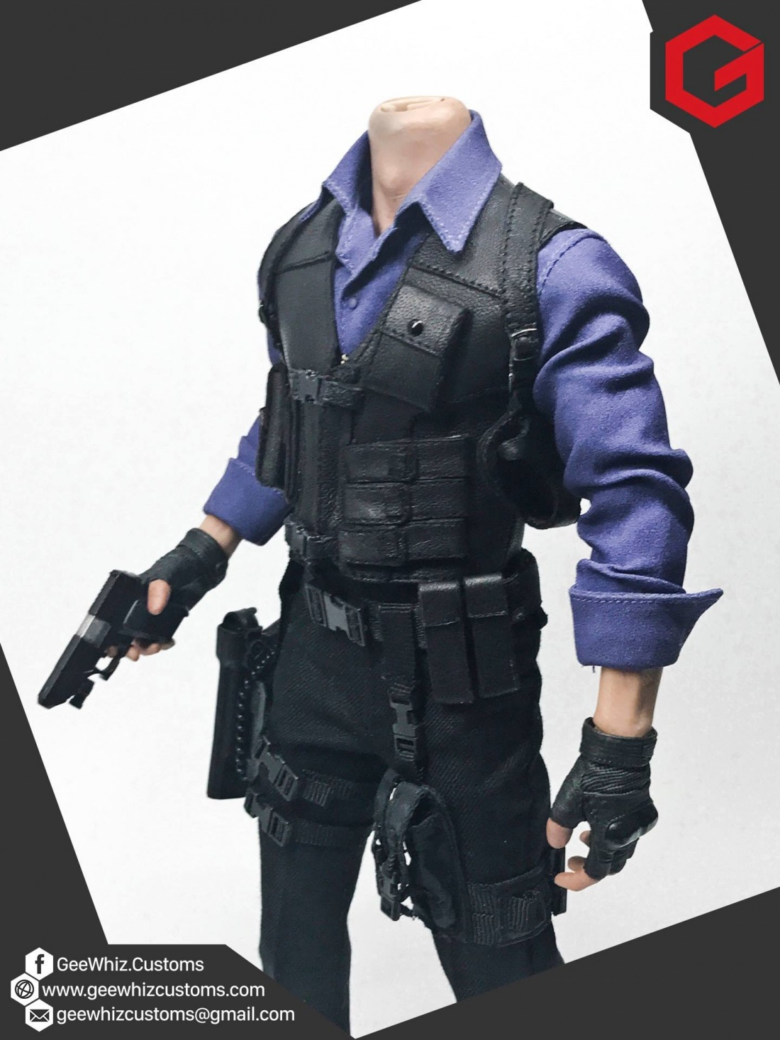 Geewhiz Customs Leon Kennedy Re6 China Outfit
